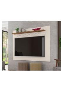 Painel Para Tv Até 65 Polegadas 160Cm Sala De Estar Win New Off White/Canela - Frade Movelaria