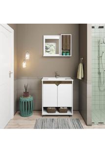 Conjunto De Banheiro Stm Móveis L06 Branco Monastrel Se