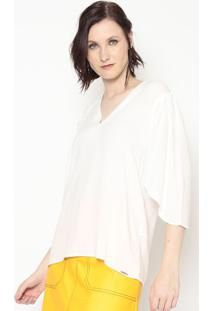 Blusa Lisa Com Pregas- Off White- Colccicolcci