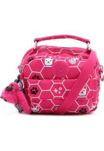 Bolsa Kipling Puck Pink Dog Rosa