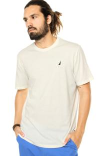 Camiseta Nautica Reta Off White
