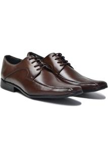 Sapato Social Lsb Shoes Bico Quadrado Masculino - Masculino-Marrom