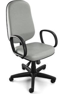 Cadeira Giratória Presidente C/ Relax E C/ Braços Corano Cinza