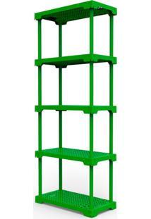 Estante Poly Com 5 Prateleiras Verde