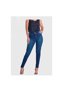 Calça Jeans Escuro Unik V Fashion Feminina