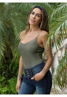 Body Alças Finas Verde