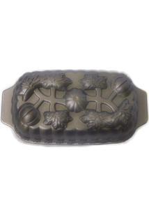 Forma De Bolo Alumínio Fundido Decorada 28X15X6.5Cm Basic Kitchen