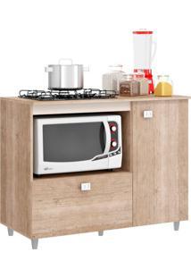 Balcão De Cozinha Khloe Para Cooktop 2 Pt Flex Bege E Amarelo