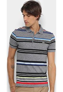 Camisa Polo Lacoste Piquet Regular Fit Striped Color Masculina - Masculino
