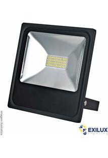 Refletor De Led Em Alumínio 50W Ip65 3500 Lúmens 6500K Cor De Luz: Branca - Exilux