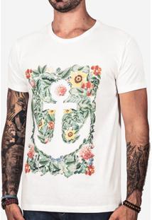 Camiseta Hermoso Compadre Âncora Masculina - Masculino-Bege