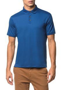 Polo Basica Liquid Cotton - Azul Médio - Pp