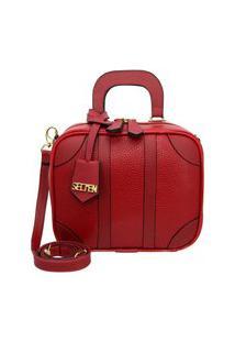 Bolsa Pequena Transversal Quadrada Selten Vermelho