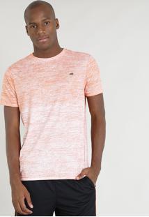 Camiseta Masculina Ace Mescla Manga Curta Gola Careca Laranja