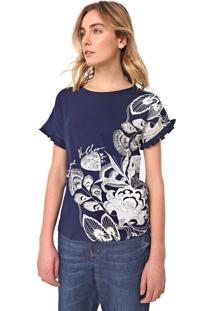 Blusa Desigual Cherokees Azul-Marinho