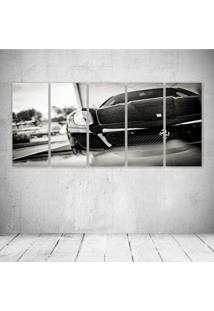 Quadro Decorativo - Black Car (2) - Composto De 5 Quadros - Multicolorido - Dafiti