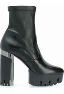 Le Silla Ankle Boot Com Stretch - Preto