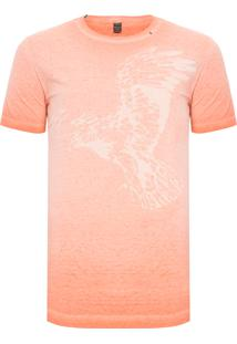 Camiseta Masculina Manga Curta Eagle - Laranja