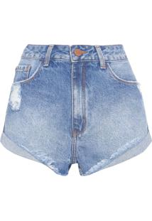 Short Feminino Basic - Azul
