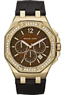 Relógio Michael Kors Feminino Marrom - Omk5507/Z Omk5507/Z - Feminino-Marrom