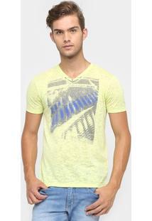 Camiseta Calvin Klein Devorê Fluor - Masculino