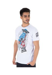Camiseta Ecko Estampada E498A - Masculina - Branco