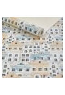 Papel De Parede Importado Lavavel Infantil Cidade Azul