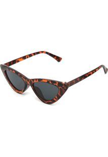 Óculos De Sol Fiveblu Retrô Caramelo/Preto