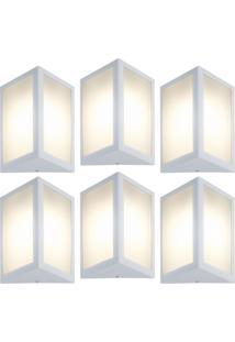 Arandela Triangular Branco Kit Com 6 Casah - Branco - Dafiti