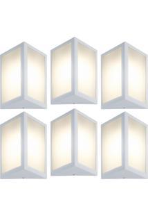 Arandela Triangular Branco Kit Com 6 Casah