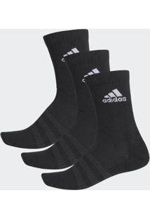 Meias Adidas Cano Alto Cush 3 Pares U Masculina - Masculino