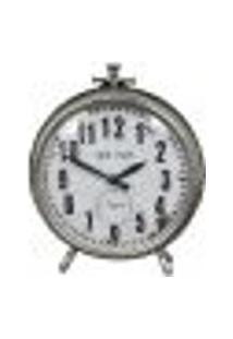 Relógio New York De Mesa De Metal