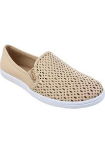 Slip On M Shuz Graphics Feminina - Feminino-Bege