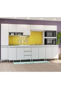 Cozinha Completa Monza 13 Portas 3 Gavetas Branco - Viero Móveis