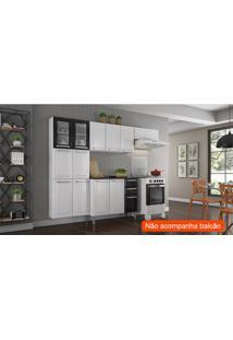 Cozinha Compacta Luce Ii 10 Pt Branca E Preta