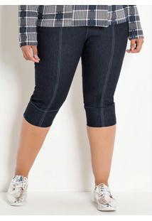 Calça Jeans Cropped Plus Size