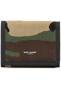 Saint Laurent Carteira Com Estampa Camuflada - Estampado