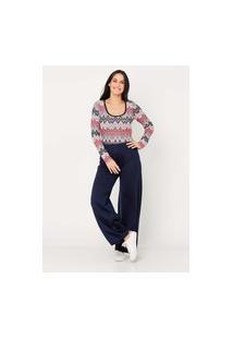 Calça Ralm Pantalona De Tricot