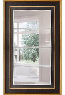 Espelho Decorativo Bari 77X127 Cm Preto