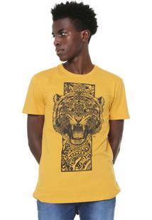 Camiseta Triton Estampada Amarela