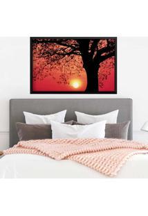 Quadro Love Decor Com Moldura Savana Sunset Preto Médio
