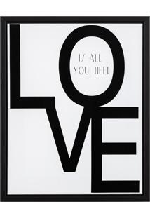 Quadro Em Canvas Love