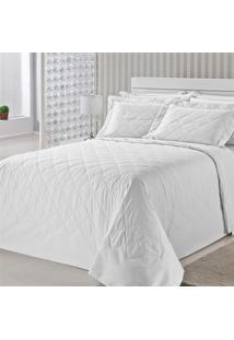Colcha Royal Comfort Matelasse Percal 233 Fios Queen Branco Plumasul