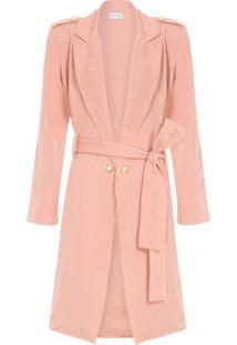 Trench Coat Botões - Rosa