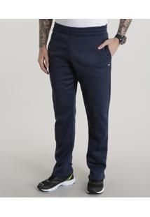 Calça Masculina Esportiva Ace Em Moletom Azul Marinho