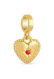 Pingente Life Segredos Coração Com Banho Ouro Amarelo