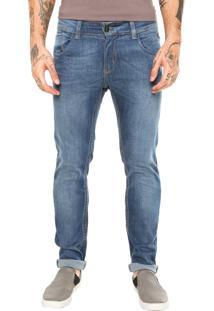 Calça Jeans Sawary Pespontos Azul