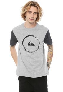 Camiseta Quiksilver Logo Cinza