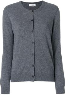 Pringle Of Scotland Round Neck Cashmere Cardigan - Cinza