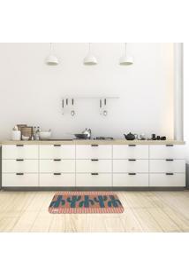 Tapete De Cozinha Mdecore Cactos Marrom 40X60Cm